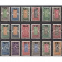 Togo - 1921 - No 101/118 - Neufs avec charnière