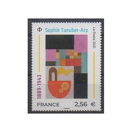 France - Poste - 2021 - No 5492 - Peinture