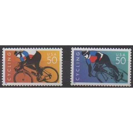 États-Unis - 1996 - No 2567A/2567B - Sports divers