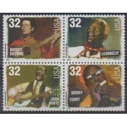 États-Unis - 1998 - No 2749/2752 - Musique