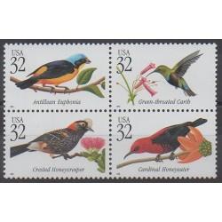 États-Unis - 1998 - No 2761/2764 - Oiseaux