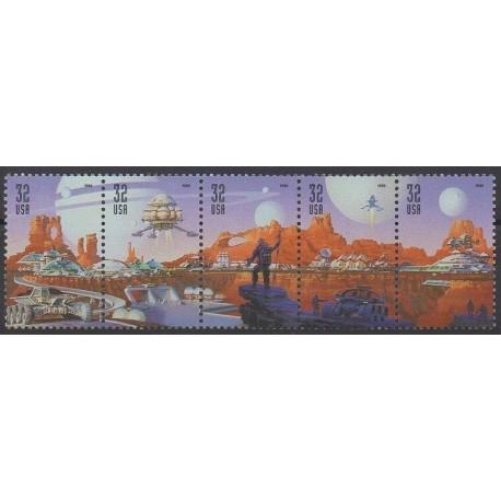 États-Unis - 1998 - No 2811/2815 - Espace