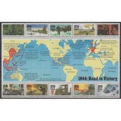 États-Unis - 1994 - No 2242/2251 - Seconde Guerre Mondiale