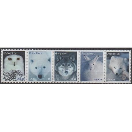 États-Unis - 1999 - No 2858/2862 - Animaux - Polaire