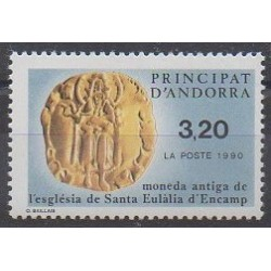 French Andorra - 1990 - Nb 397 - Coins, Banknotes Or Medals