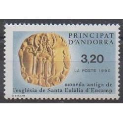 Andorre - 1990 - No 397 - Monnaies, billets ou médailles