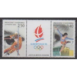 Andorre - 1992 - No 414A - Jeux olympiques d'hiver