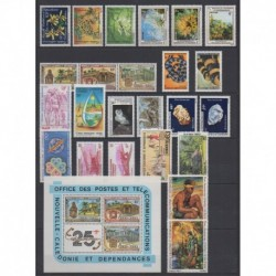 New Caledonia - Complete year - 1983 - Nb 466/480 - PA227/PA235 - BF5