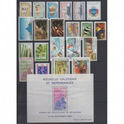 New Caledonia - Complete year - 1984 - Nb 481/490 - PA236/PA246 - BF6