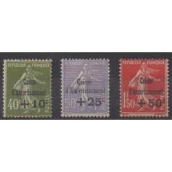 France - Poste - 1931 - No 275/277 - Neufs avec charnière