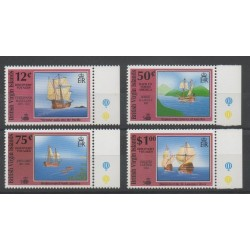 Vierges (Iles) - 1991- No 692/695 - Bateaux