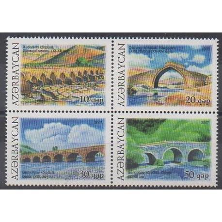 Azerbaïdjan - 2007 - No 600/603 - Ponts