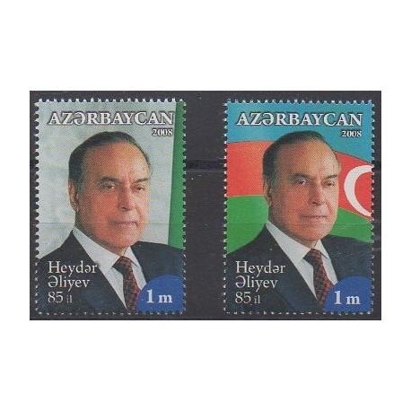 Azerbaïdjan - 2008 - No 617/618 - Célébrités