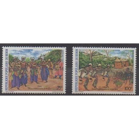 Benin - 1985 - Nb 616/617 - Folklore