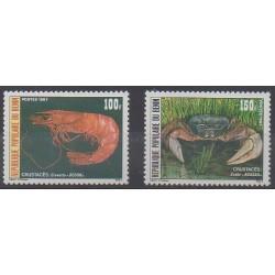 Bénin - 1987 - No 653/654 - Vie marine