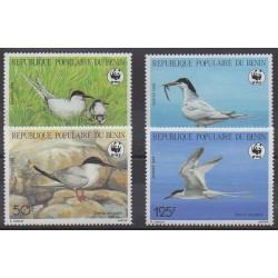 Benin - 1989 - Nb 669/672 - Birds - Endangered species - WWF