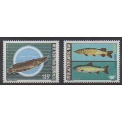 Bénin - 1989 - No 676/677 - Vie marine