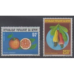 Bénin - 1990 - No 681/682 - Fruits ou légumes