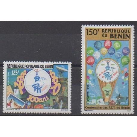 Bénin - 1990 - No 680 et 687 - Service postal