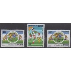 Benin - 1990 - Nb 685/686 et 688 - Soccer World Cup